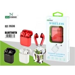 Earphones Bluetooth New C Caixa Preto 9536 - 7603