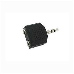 Adaptador Audio Jack 3.5 Macho Stereo 2 Jack 3.5 Fêmea Preto - 7622