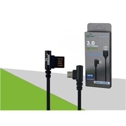 Cabo Dados New USB M / Micro Usb 90º 3.0 Preto 7265 - 8416816607265