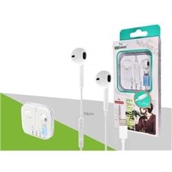 Auricular New Estereo P Iphone 7 C Micro Branco A0402 - 8416846610402