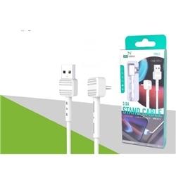 Cabo Dados New USB M / Type C 90º 2.4 Branco C2543 - 8416846612543