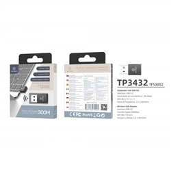 Adaptador Usb Wi-fi Usb Tech 300 Mbps TP3432 - 5688143530025