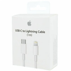 Cabo Apple iPhone 5 ou Sup USB / Type-C 1Mt MQGJ2ZM/A Branco - 190198496263