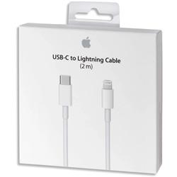 Cabo Apple USB-C para Lightning 2Mt MKQ42ZM/A Branco - 888462496988