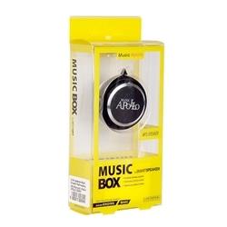 Mini Coluna Musica Apollo Bluetooth Radio Preta - 5900217226949