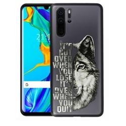Tampa Apokin Huawei Y7 2019 Desenho Lobo Preta 12083 - 7140