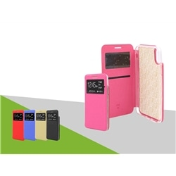 Flip Cover Samsung A40 A405 Gold C Iman C Janela - 6934