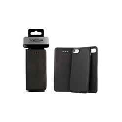 "Bolsa Flip Cover Vennus 2 em 1 Iphone 7 / 8 4.7"" Preta - 7212"