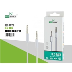 Cabo Audio New 1 Metro Jack 3,5mm Macho / Macho Branco 8829 - 8416846608829